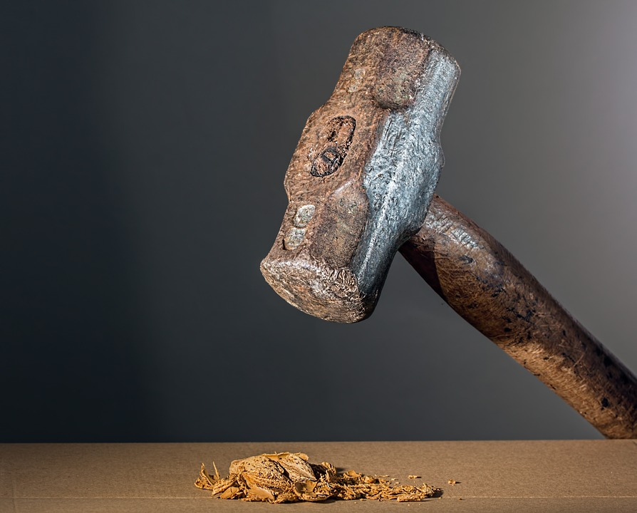 Hammer used for drywall construction