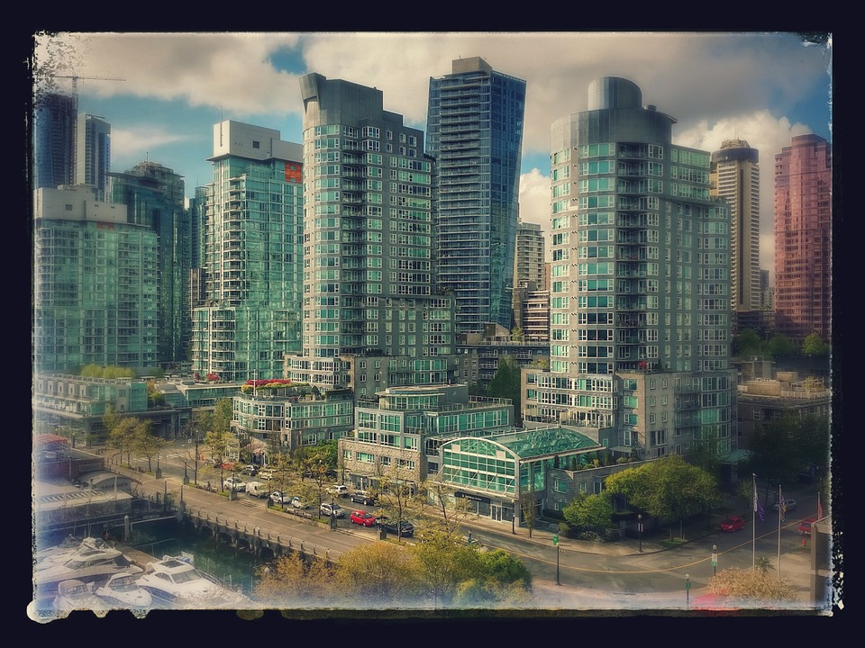 coal harbour british columbia photo with black border