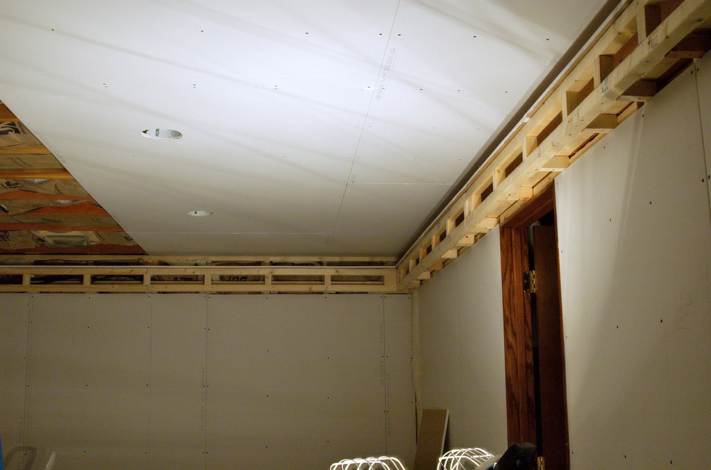 drywall ceiling that needs to be repaired