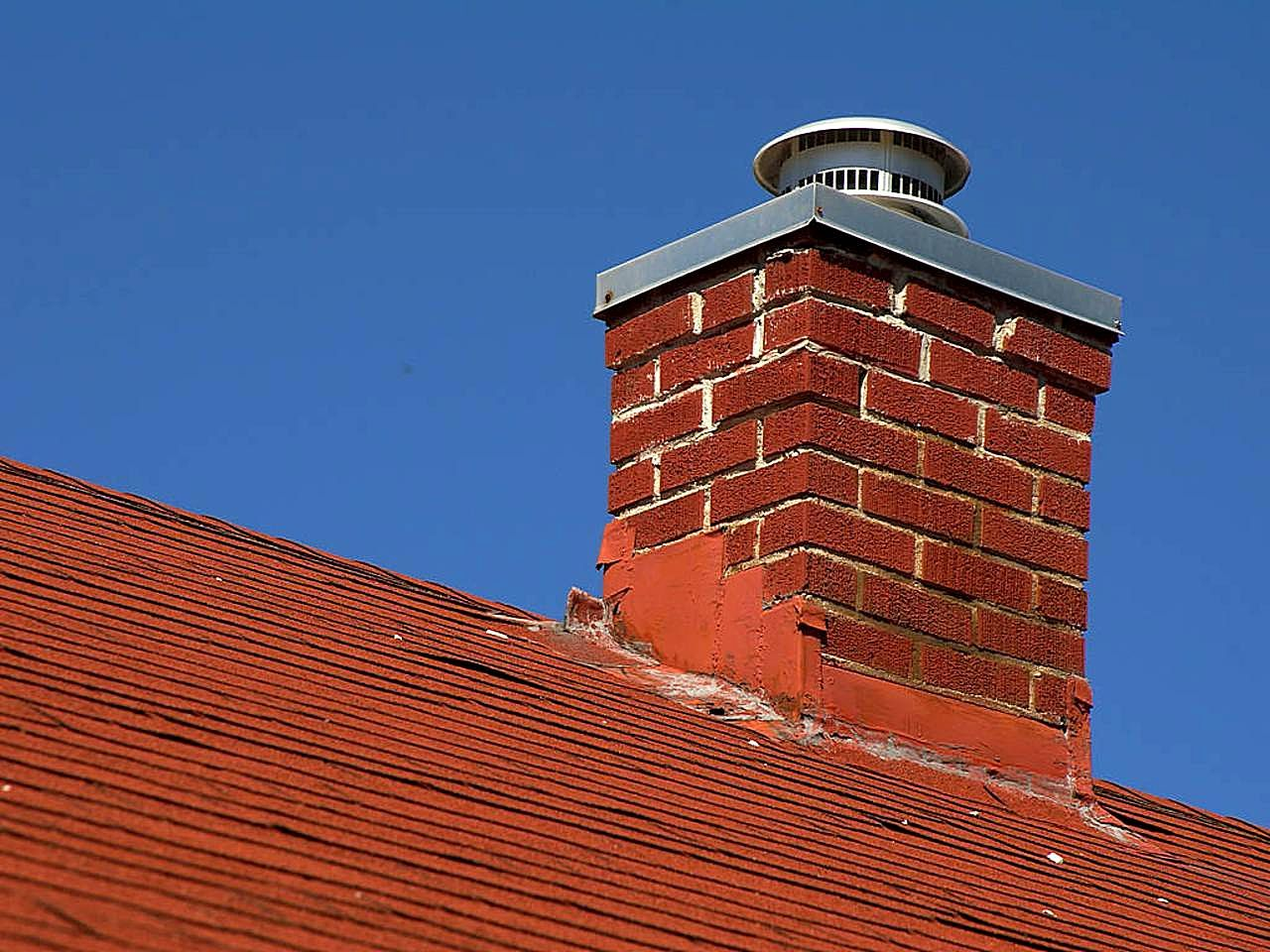 An example of a bricked chimney